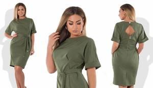 Платье короткое нарядное однотонное Ф6033