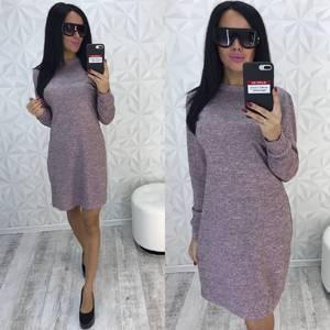 Платье короткое трикотажное однотонное У9299