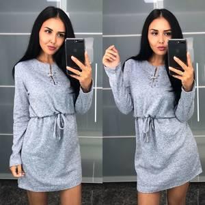 Платье короткое трикотажное современное У9445