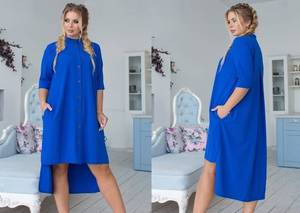 Платье короткое нарядное синее У9453