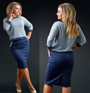 Костюм юбочный модный Ф5493