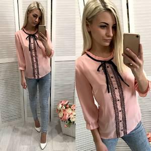 Блуза с кружевом Ф0721