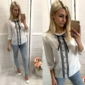 Блуза с кружевом Ф0722