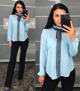 Блуза с кружевом Ф0725