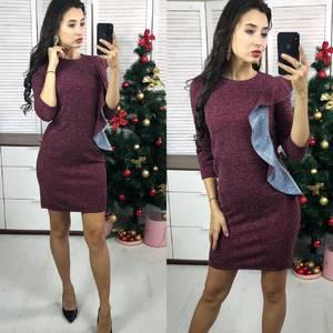 Платье короткое нарядное с рукавом 3/4 Ф9677