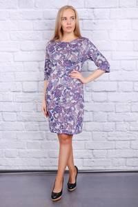 Платье короткое нарядное с принтом Ф9682