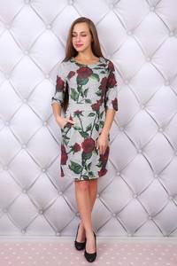 Платье короткое нарядное с принтом Ф9680