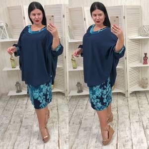 Платье короткое летнее с принтом У9276