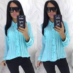 Рубашка с длинным рукавом прозрачная Х4081