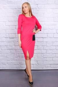 Платье короткое с рукавом 3/4 облегающее Ф9684