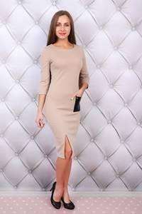 Платье короткое с рукавом 3/4 облегающее Ф9686