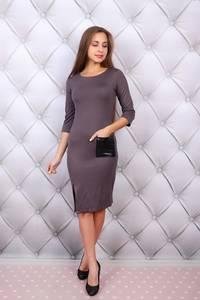 Платье короткое с рукавом 3/4 облегающее Ф9687