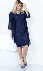 Платье Двойка короткое нарядное однотонное У0649
