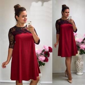 Платье короткое нарядное красное У9094