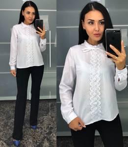 Блуза белая с длинным рукавом У8237