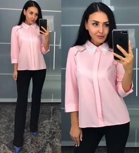 Блуза розовая с длинным рукавом У8240