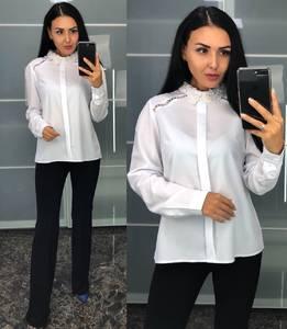 Блуза белая с длинным рукавом У8241