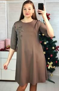 Платье короткое нарядное с рукавом 3/4 Ф9696