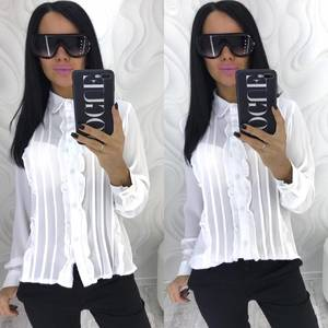 Рубашка с длинным рукавом прозрачная Х4083