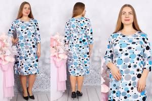 Платье короткое с принтом Ф9708