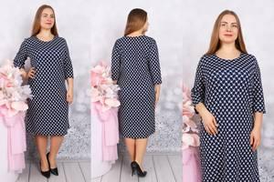 Платье короткое с принтом Ф9707