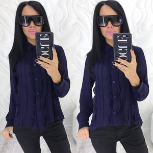 Рубашка с длинным рукавом прозрачная Х4084