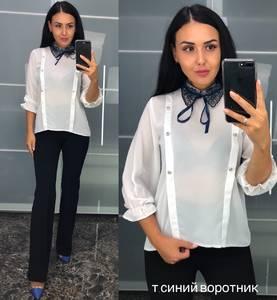 Блуза белая для офиса У8220
