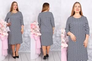 Платье короткое с принтом Ф9710