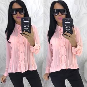 Рубашка с длинным рукавом прозрачная Х4085