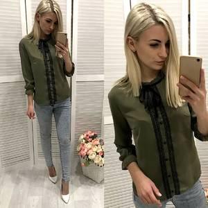 Блуза с кружевом Ф0720