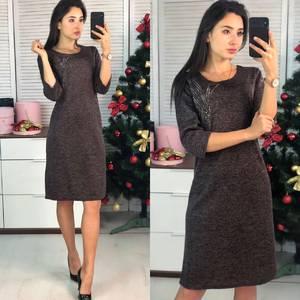 Платье короткое нарядное повседневное Ф9724