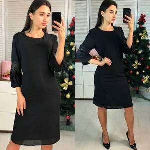 Платье короткое нарядное однотонное Ф9729