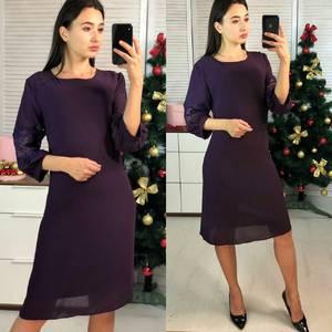 Платье короткое нарядное однотонное Ф9730