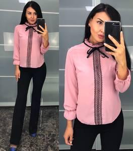 Блуза с кружевом Ф0723