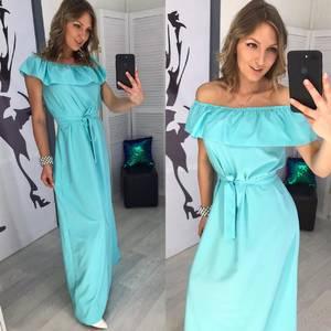 Платье длинное однотонное Х8054