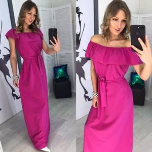 Платье длинное однотонное Х8055