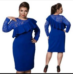 Платье короткое нарядное однотонное Х8046