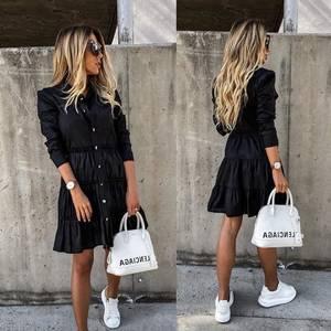 Платье короткое с длинным рукавом А35332