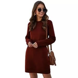 Платье короткое с длинным рукавом А35344