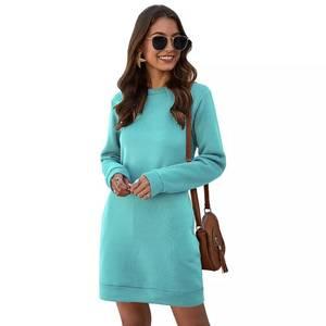 Платье короткое с длинным рукавом А35346