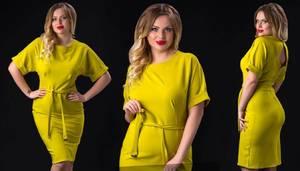 Платье короткое нарядное однотонное Ф6035