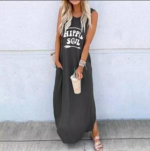 Платье длинное летнее А37747