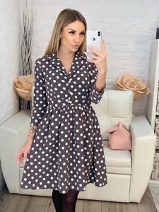 Платье короткое с рукавом 3/4 классическое Х0540