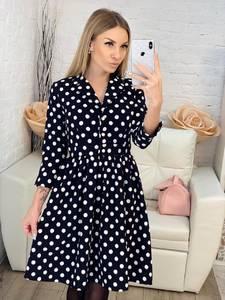 Платье короткое с рукавом 3/4 классическое Х0541