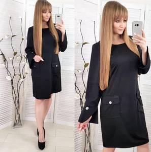 Платье короткое с длинным рукавом повседневное Х0715