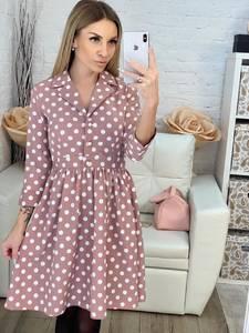 Платье короткое с рукавом 3/4 современное Х0542
