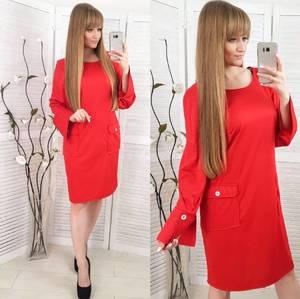 Платье короткое с длинным рукавом повседневное Х0716