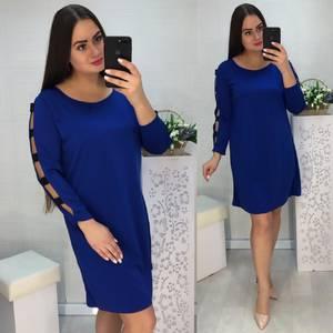 Платье короткое нарядное синее Х1033