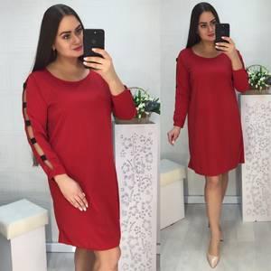 Платье короткое нарядное красное Х1034