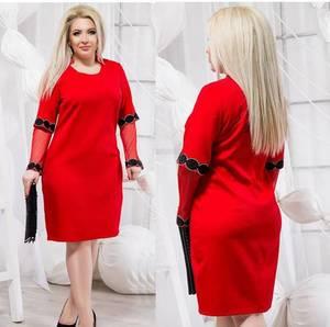 Платье короткое нарядное однотонное Ф5499